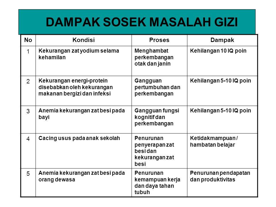 DAMPAK SOSEK MASALAH GIZI