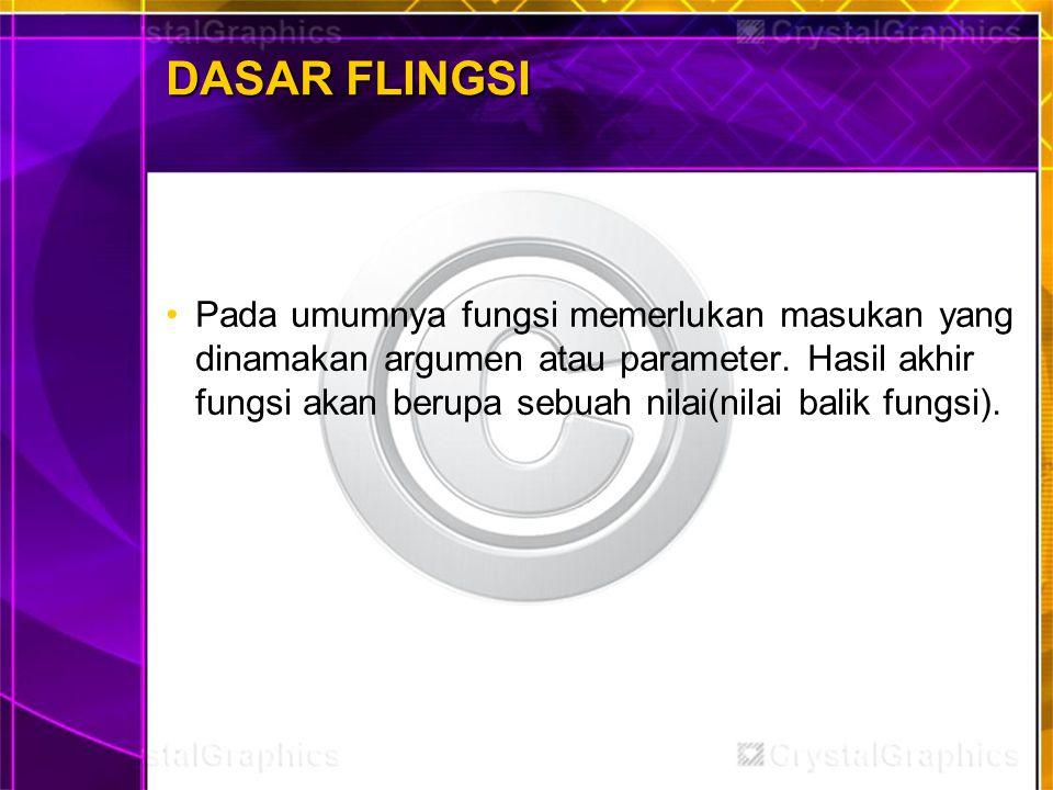 DASAR FLINGSI
