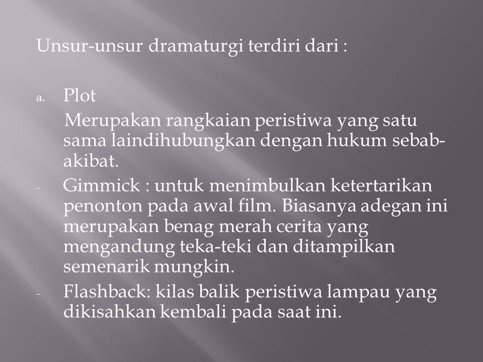 Unsur-unsur dramaturgi terdiri dari :