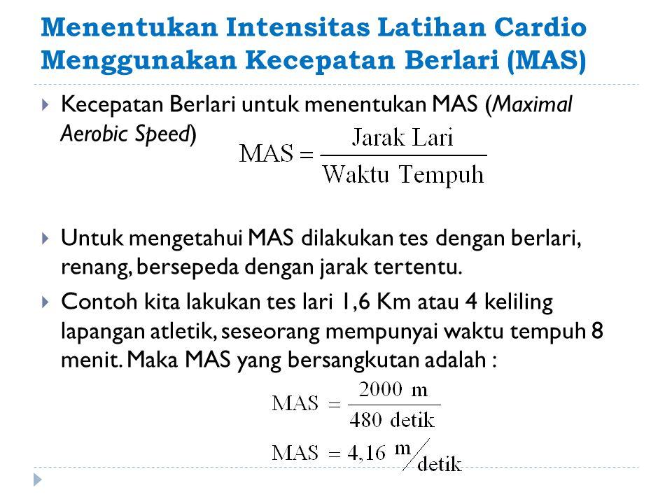 Menentukan Intensitas Latihan Cardio Menggunakan Kecepatan Berlari (MAS)