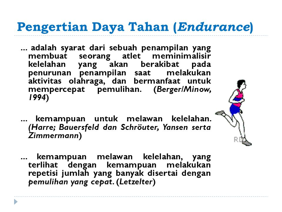 Pengertian Daya Tahan (Endurance)