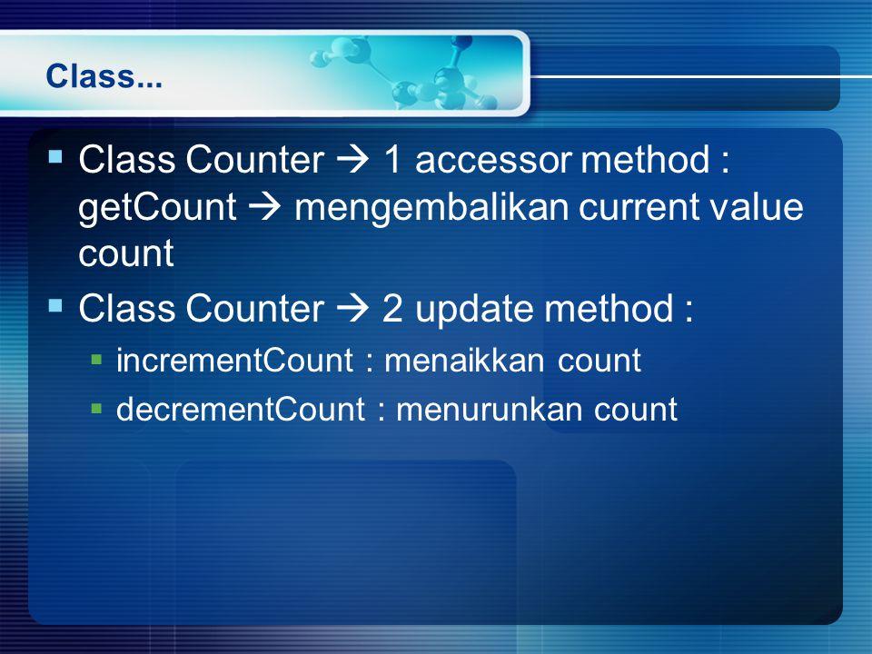Class Counter  2 update method :