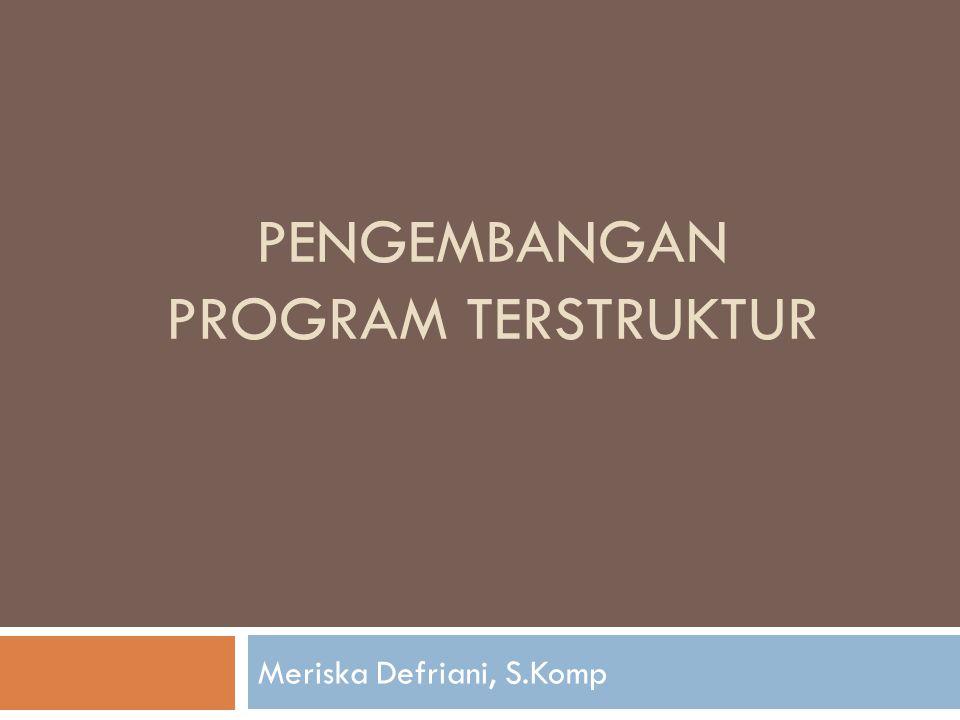 Pengembangan program terstruktur
