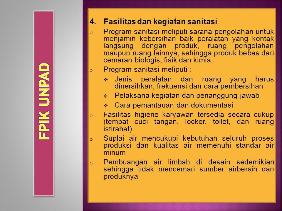 FPIK UNPAD Fasilitas dan kegiatan sanitasi