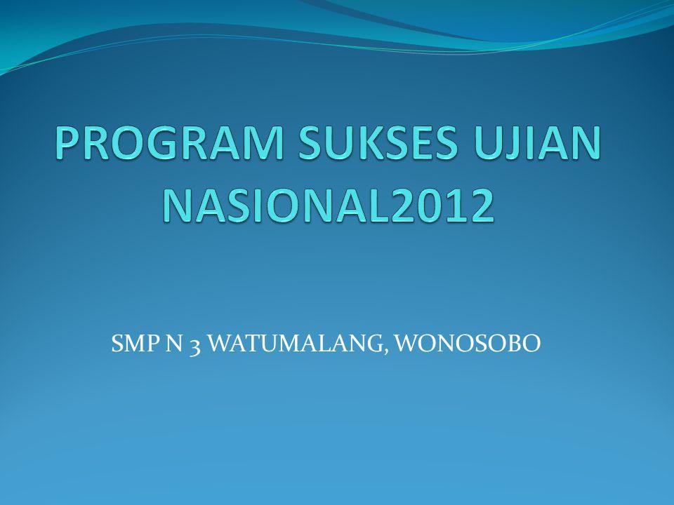 PROGRAM SUKSES UJIAN NASIONAL2012