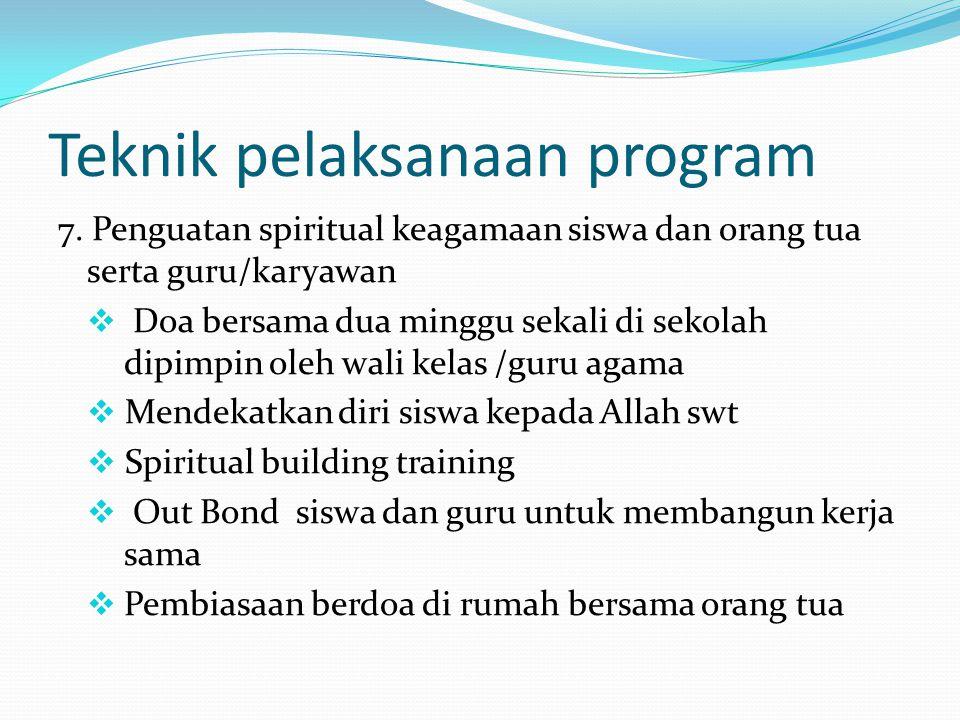 Teknik pelaksanaan program