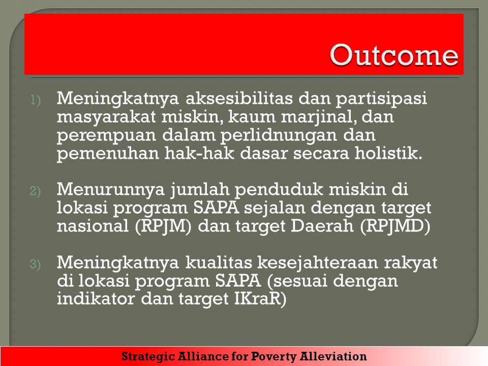 Strategic Alliance for Poverty Alleviation