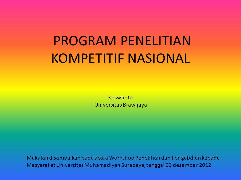PROGRAM PENELITIAN KOMPETITIF NASIONAL