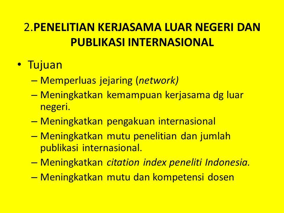 2.PENELITIAN KERJASAMA LUAR NEGERI DAN PUBLIKASI INTERNASIONAL