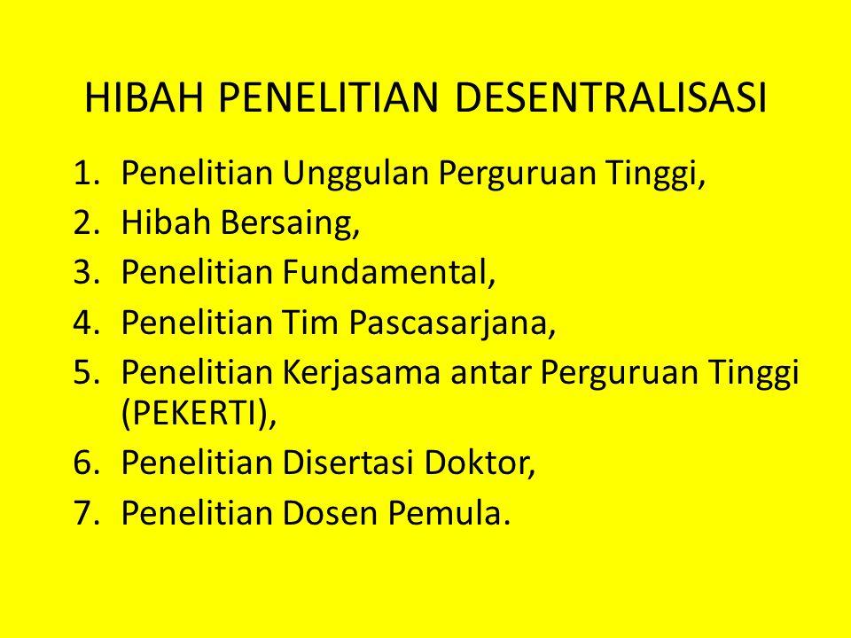 HIBAH PENELITIAN DESENTRALISASI