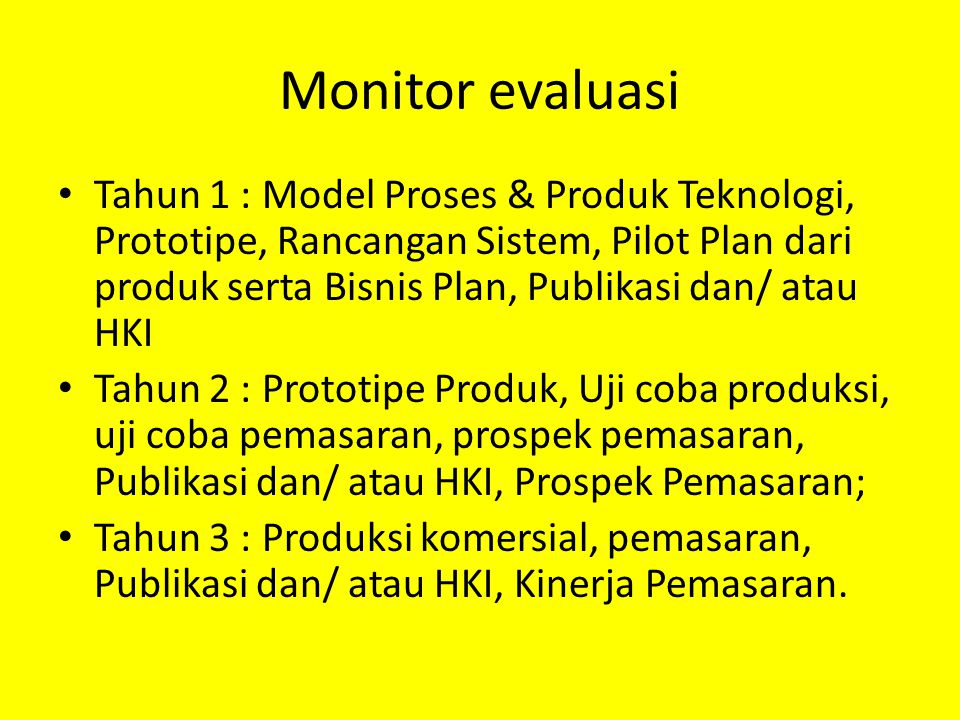 Monitor evaluasi