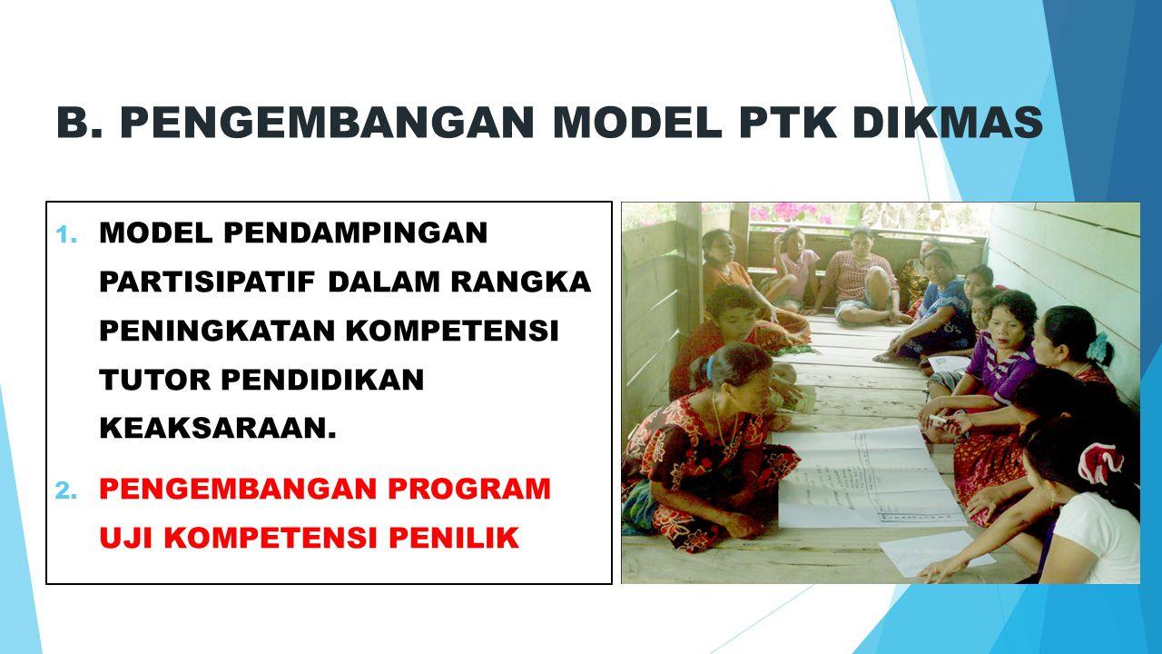B. PENGEMBANGAN MODEL PTK DIKMAS