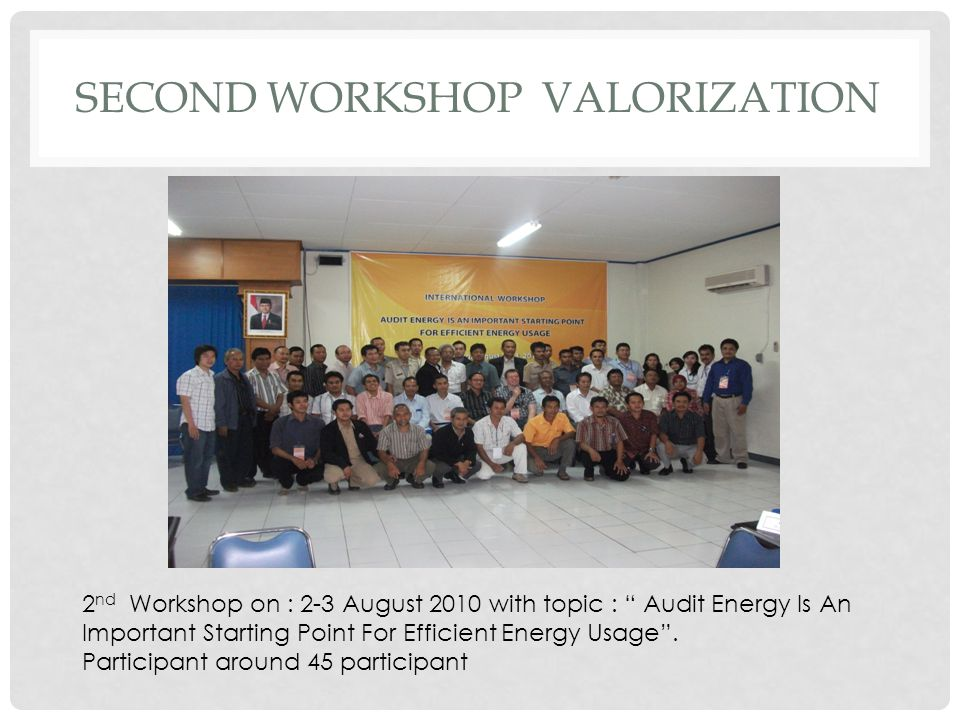 SECOND Workshop VALORIZATION