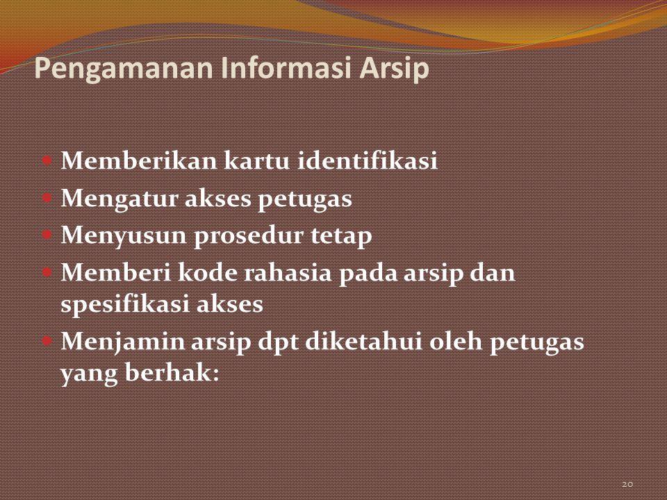 Pengamanan Informasi Arsip