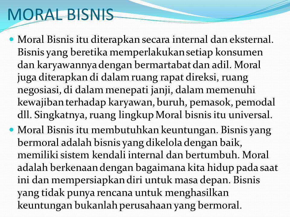 MORAL BISNIS