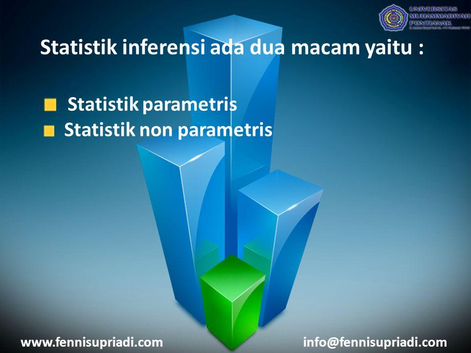 Statistik parametris Statistik inferensi ada dua macam yaitu :