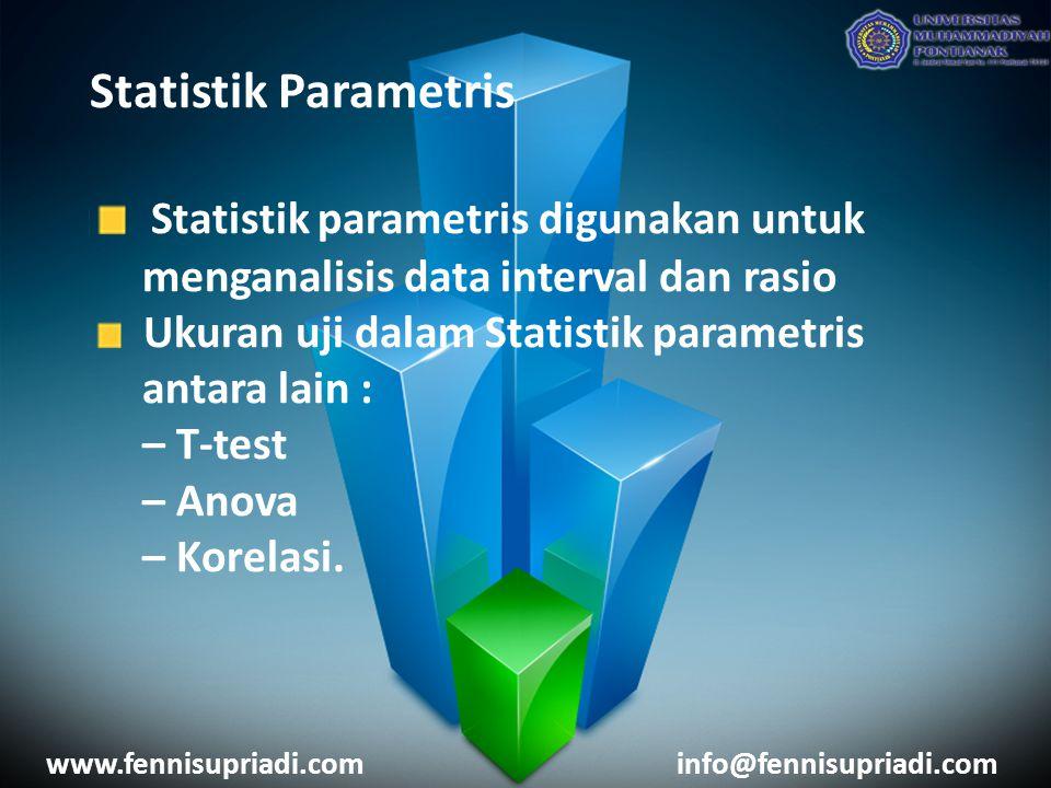 Statistik parametris digunakan untuk