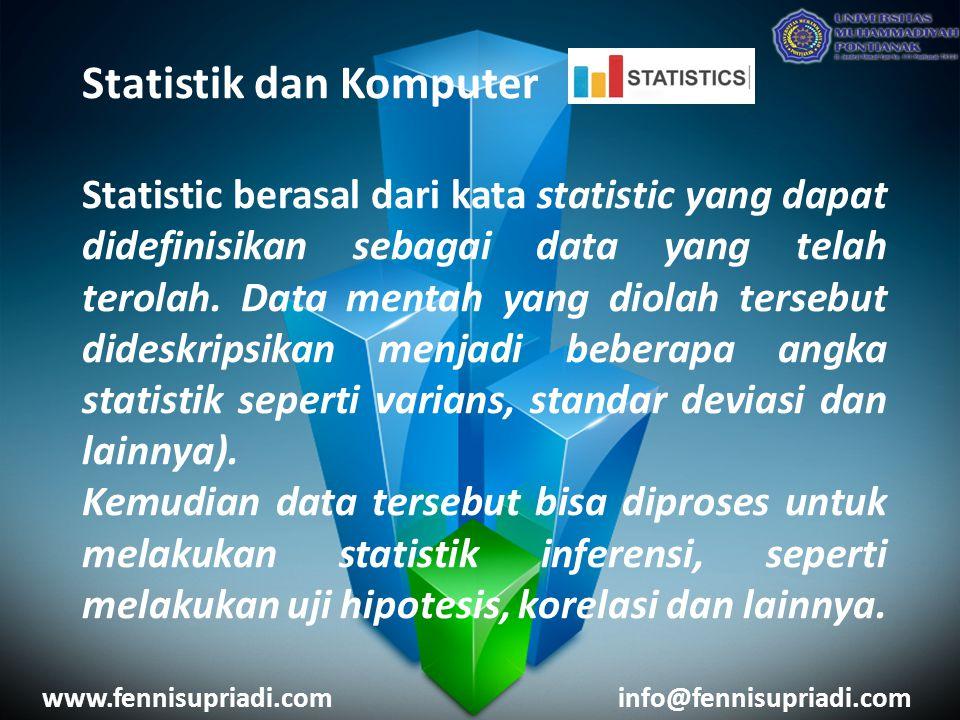 Statistik dan Komputer