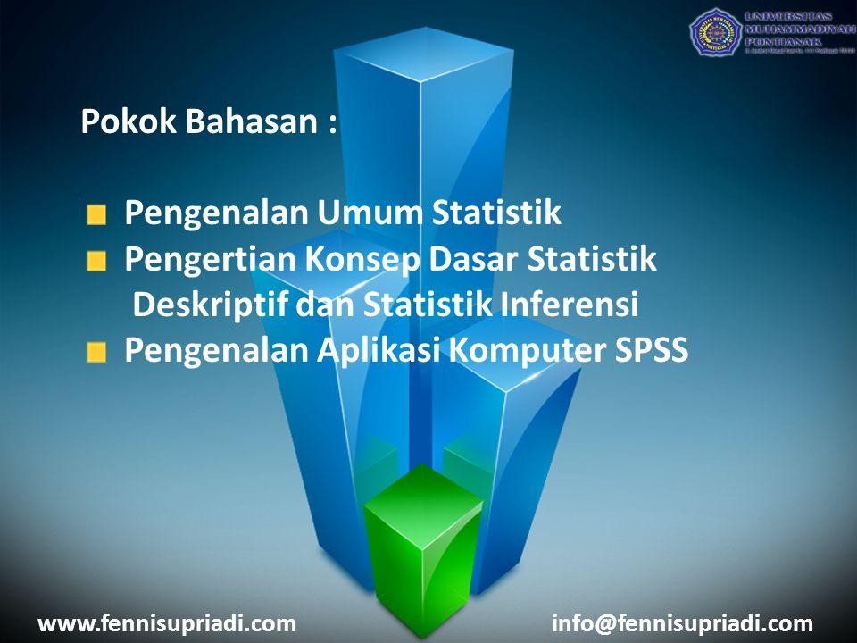 Pengenalan Umum Statistik Pengertian Konsep Dasar Statistik