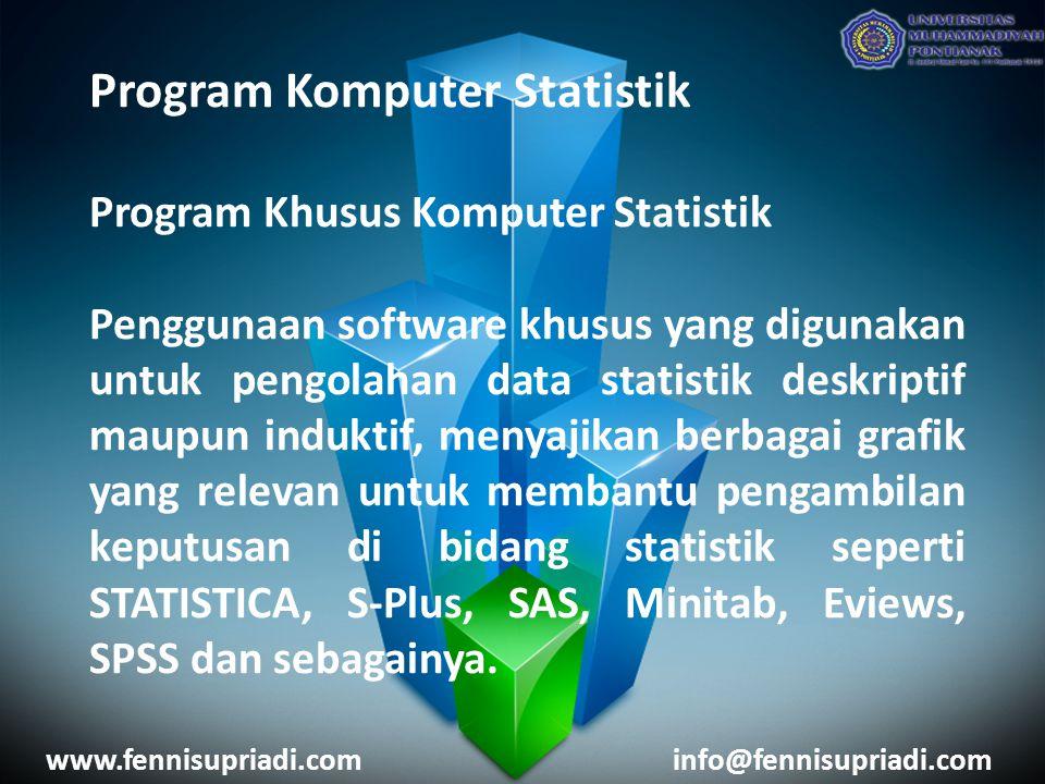 Program Komputer Statistik