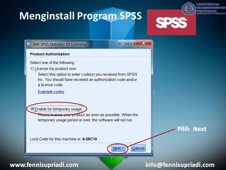 Menginstall Program SPSS