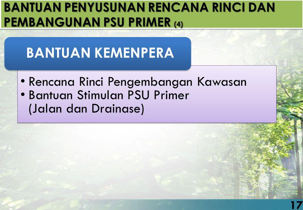 Rencana Rinci Pengembangan Kawasan Bantuan Stimulan PSU Primer