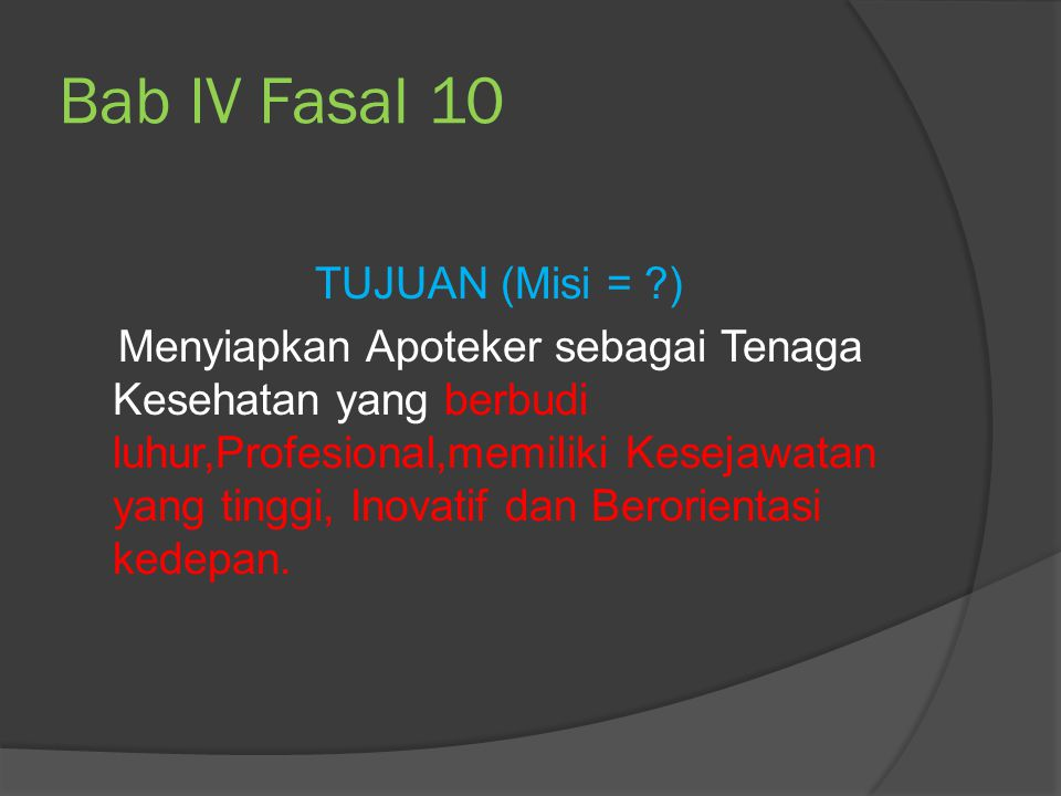 Bab IV Fasal 10