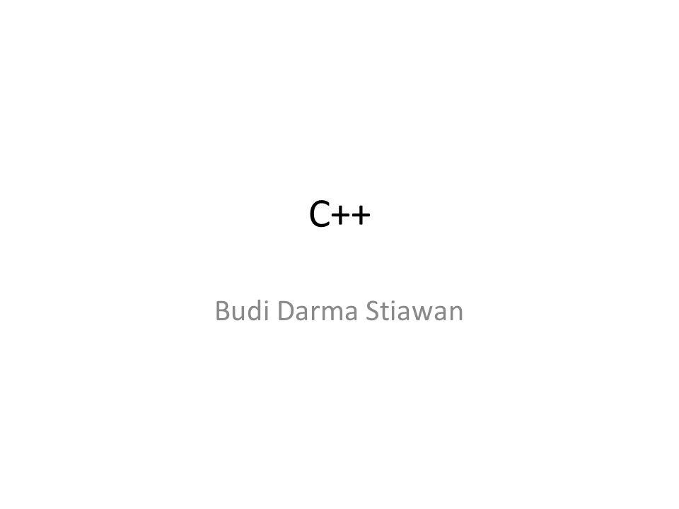 C++ Budi Darma Stiawan
