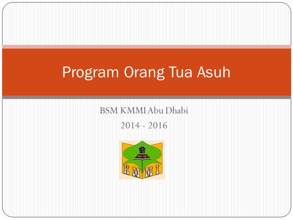 Program Orang Tua Asuh BSM KMMI Abu Dhabi 2014 - 2016
