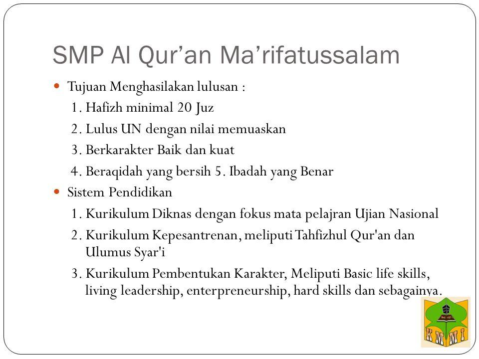 SMP Al Qur'an Ma'rifatussalam
