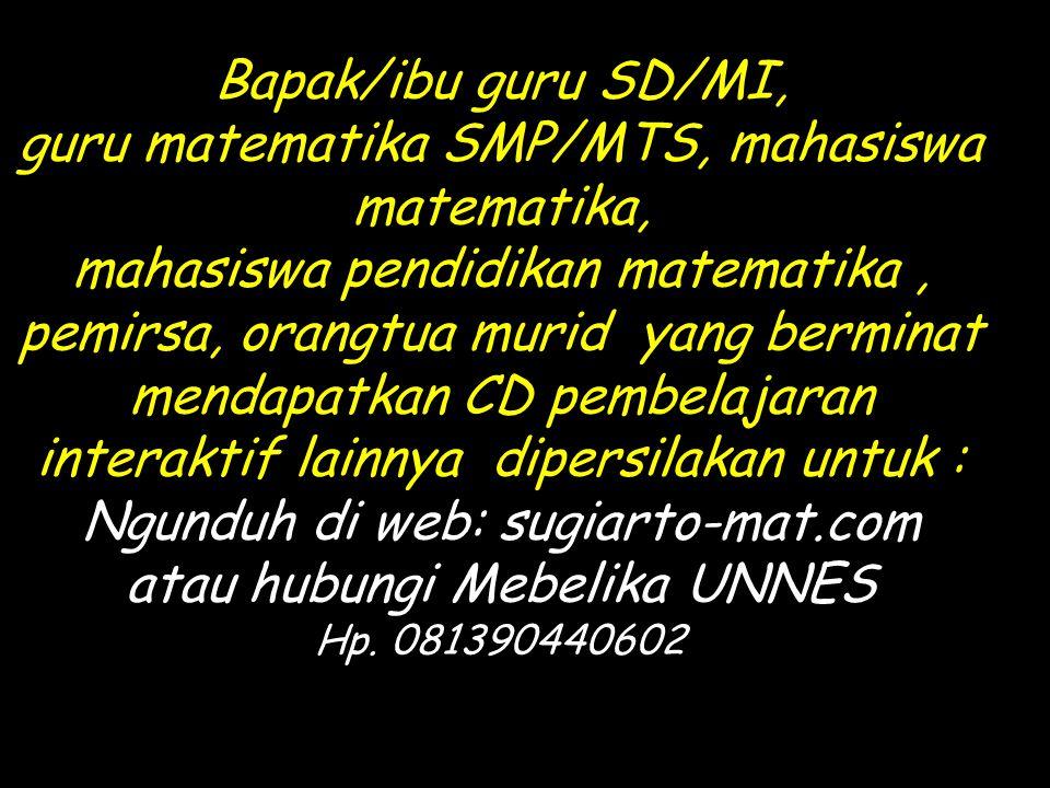 guru matematika SMP/MTS, mahasiswa matematika,