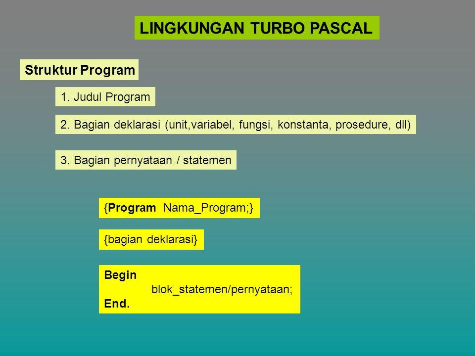 LINGKUNGAN TURBO PASCAL