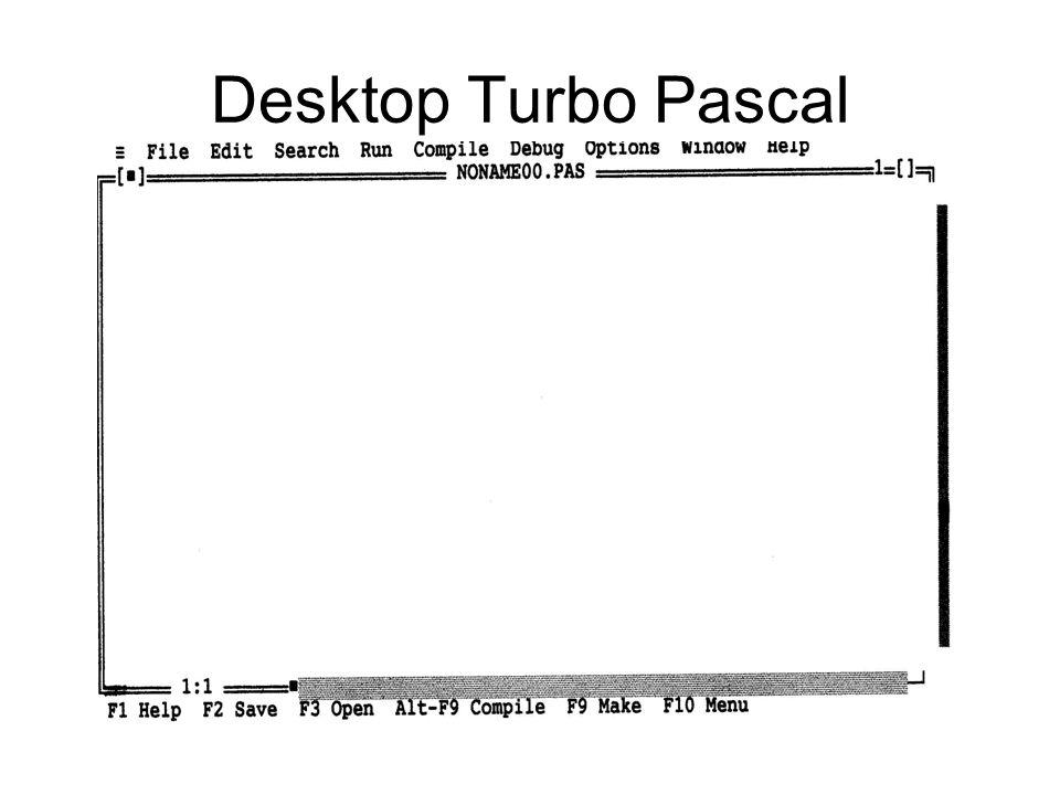 Desktop Turbo Pascal