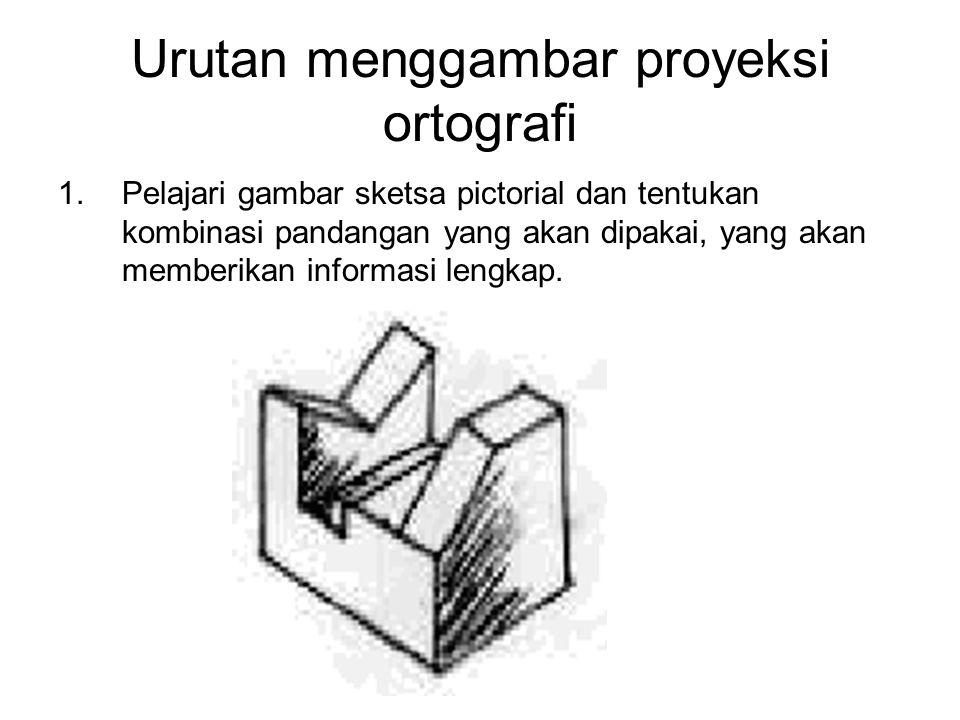Urutan menggambar proyeksi ortografi