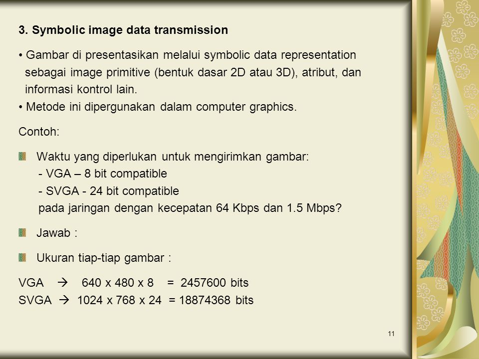 3. Symbolic image data transmission