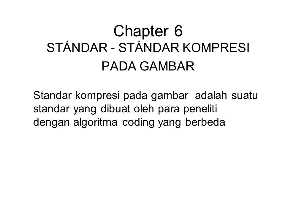 Chapter 6 STÁNDAR - STÁNDAR KOMPRESI PADA GAMBAR