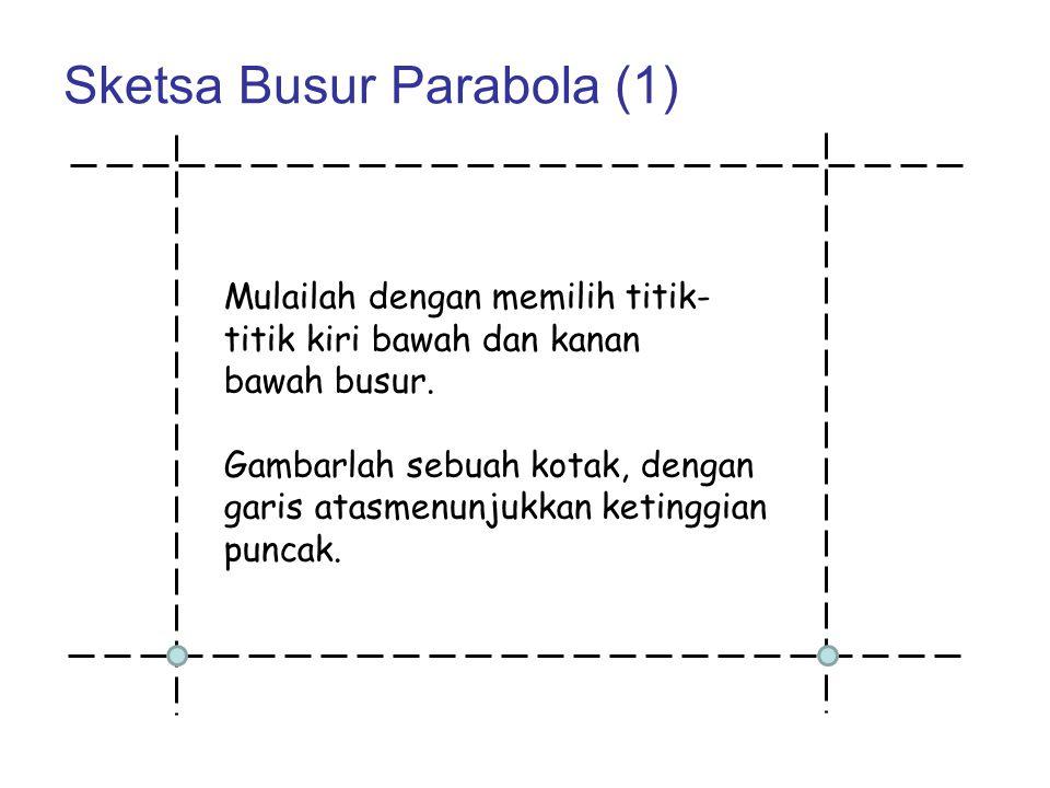 Sketsa Busur Parabola (1)