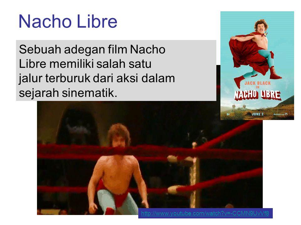 Nacho Libre Sebuah adegan film Nacho Libre memiliki salah satu jalur terburuk dari aksi dalam sejarah sinematik.