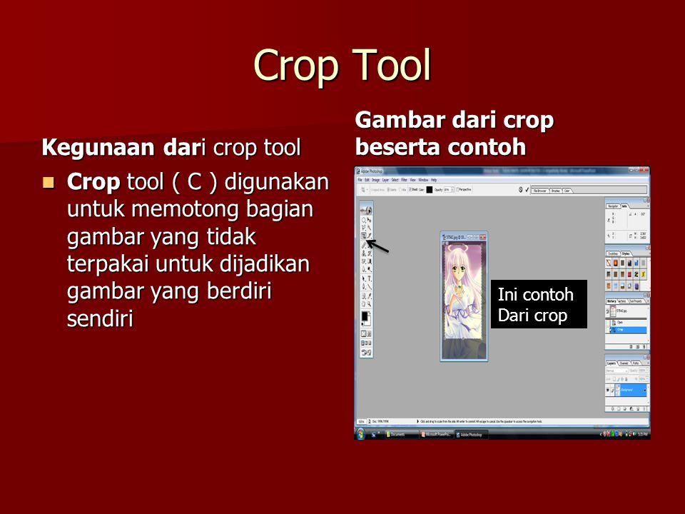 Crop Tool Gambar dari crop beserta contoh Kegunaan dari crop tool