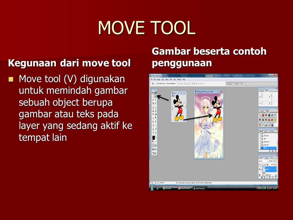 MOVE TOOL Gambar beserta contoh penggunaan Kegunaan dari move tool