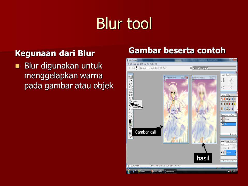 Blur tool Gambar beserta contoh Kegunaan dari Blur