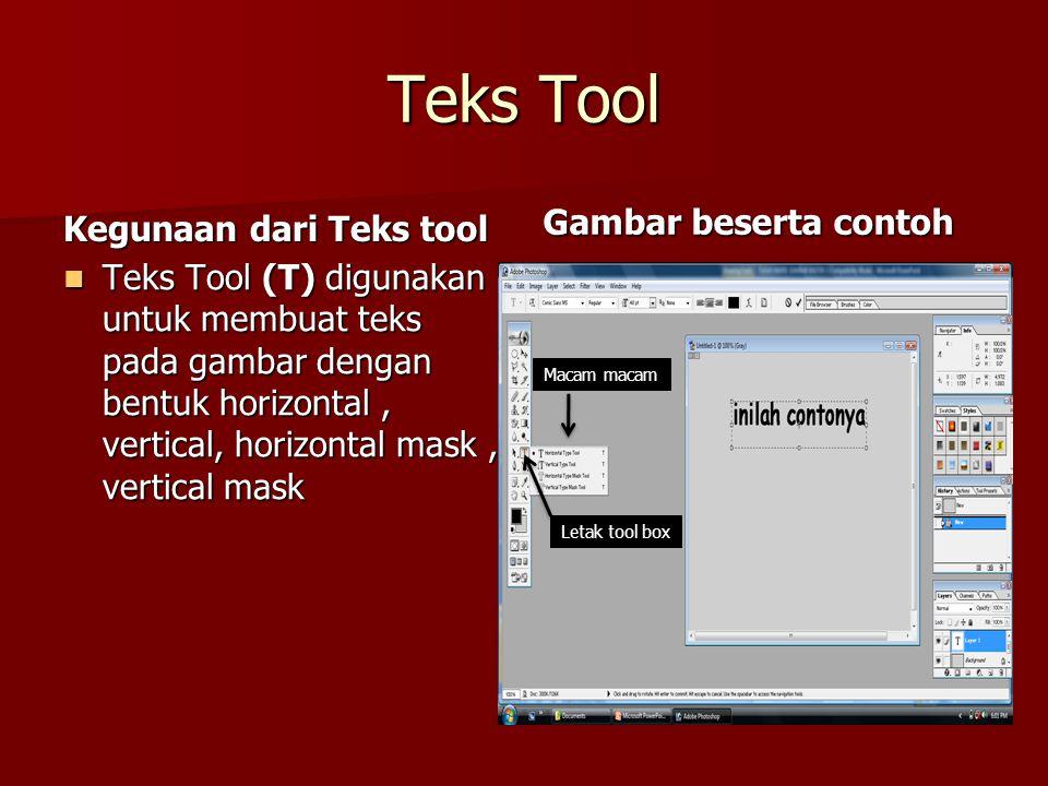 Teks Tool Kegunaan dari Teks tool Gambar beserta contoh