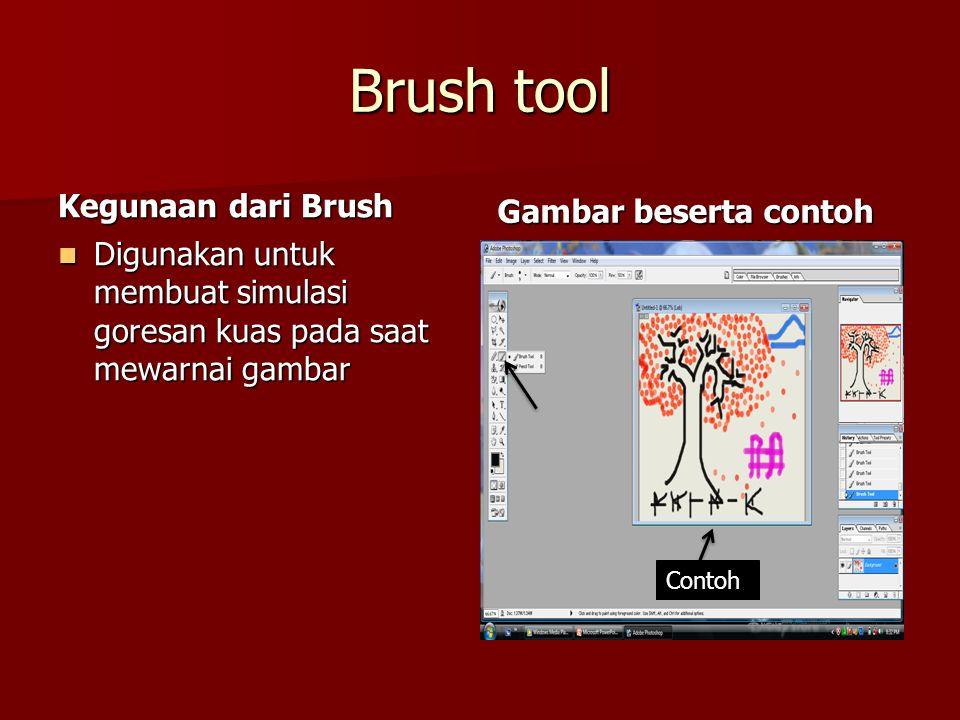 Brush tool Kegunaan dari Brush Gambar beserta contoh