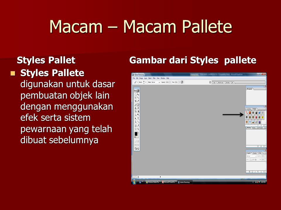 Macam – Macam Pallete Styles Pallet Gambar dari Styles pallete