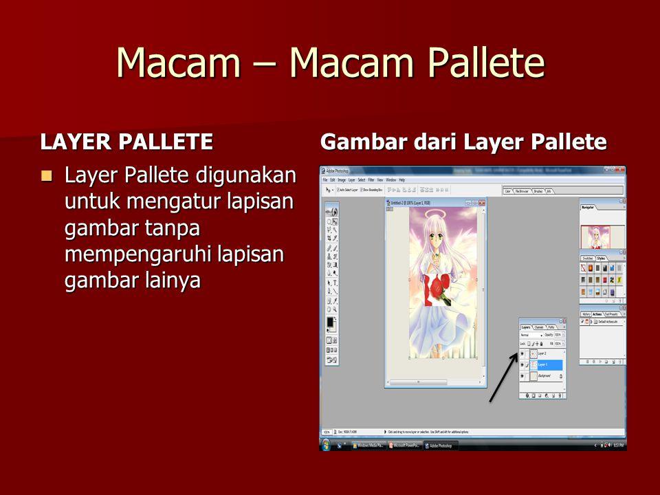 Macam – Macam Pallete LAYER PALLETE Gambar dari Layer Pallete