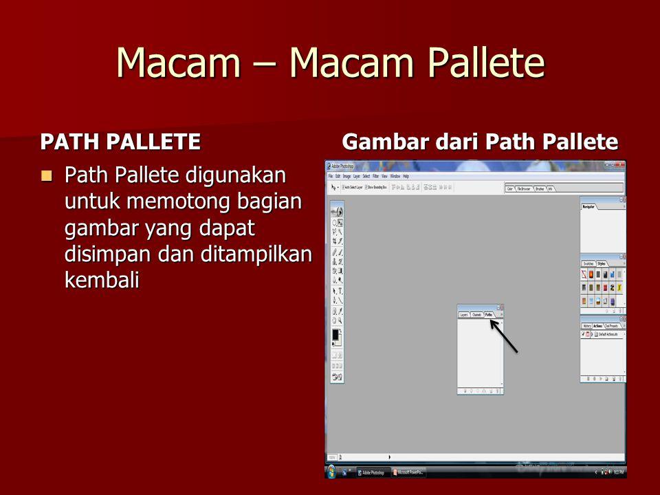 Macam – Macam Pallete PATH PALLETE Gambar dari Path Pallete