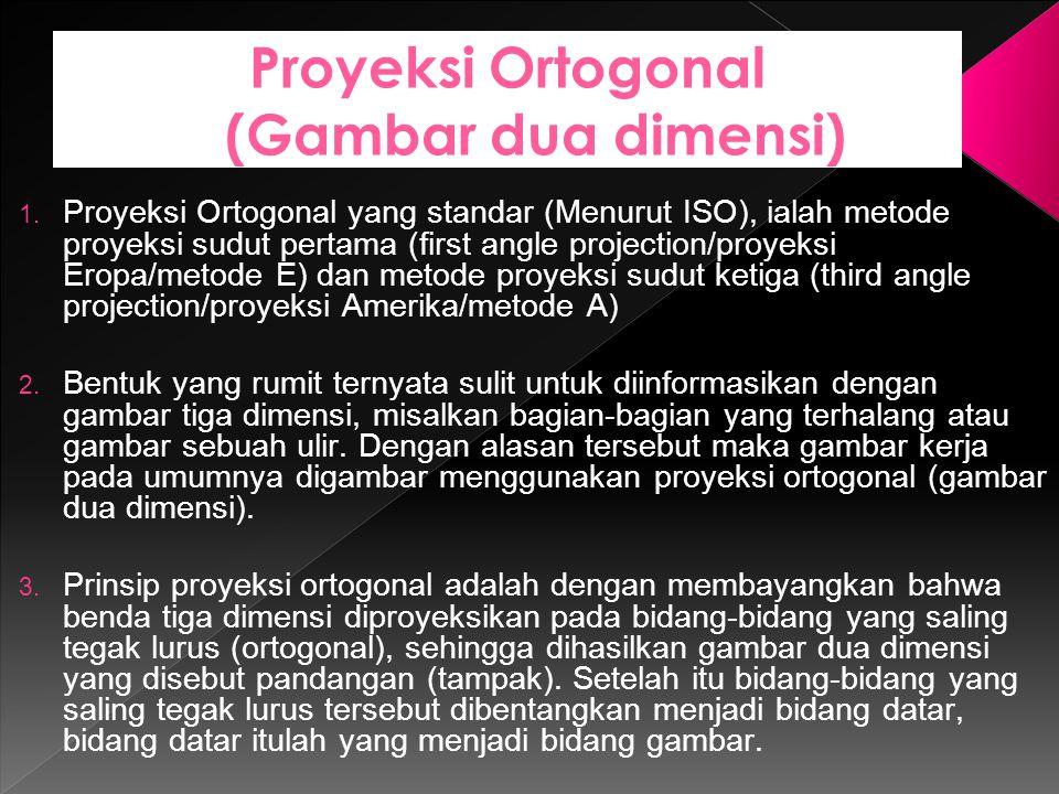 Proyeksi Ortogonal (Gambar dua dimensi)