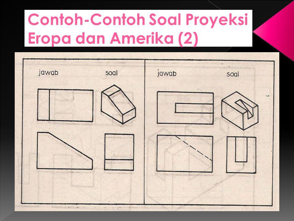 Contoh-Contoh Soal Proyeksi Eropa dan Amerika (2)