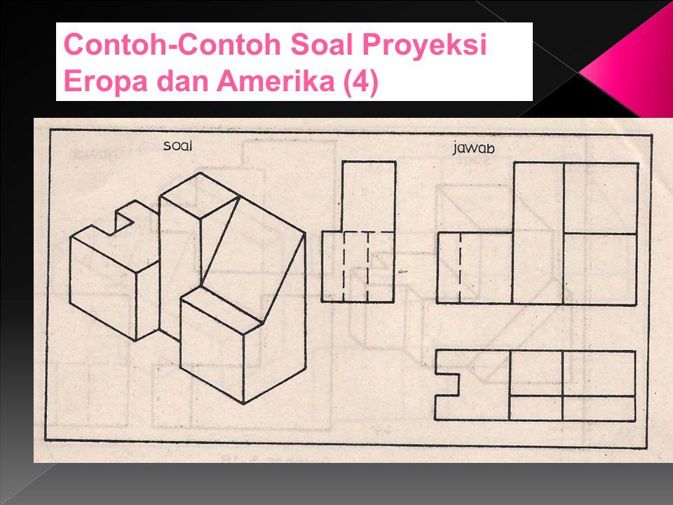 Contoh-Contoh Soal Proyeksi Eropa dan Amerika (4)