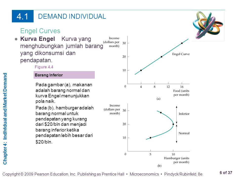 4.1 DEMAND INDIVIDUAL Engel Curves